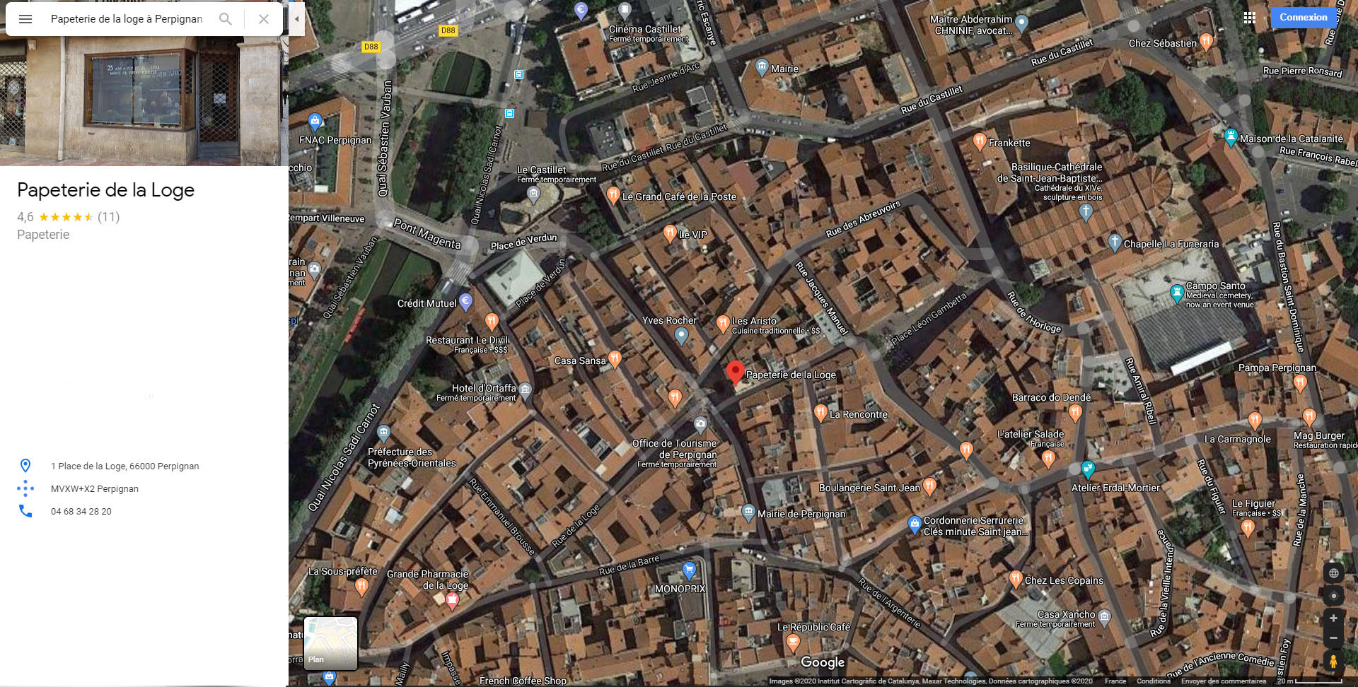 Position du magasin dans Perpignan